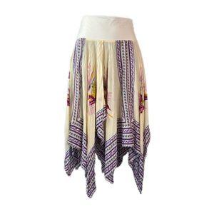 FREE PEOPLE Boho Flyaway Handkerchief Skirt